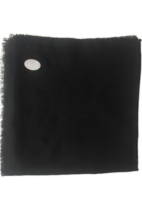 Tuğ Pamuklu Dökümlü Eşarp Yazma Siyah