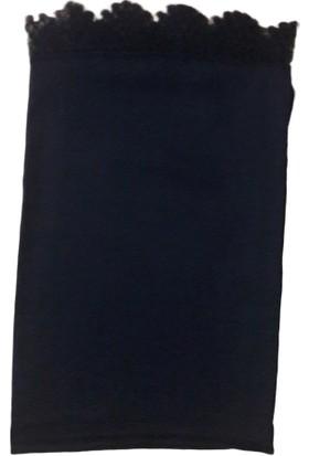 Tuğ Şal Dantelli Namaz Mevlüt Örtüsü Polyester Siyah