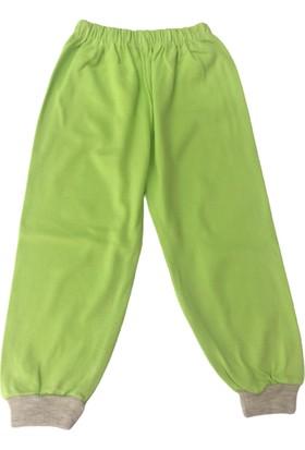 Özkaplan Ayıcıklı Çocuk Pijama Takımı - 5-6 Yaş - Yeşil