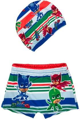 Pijamaskeliler Baskılı Çocuk Boxer Mayo - Pijamaskeliler Bone