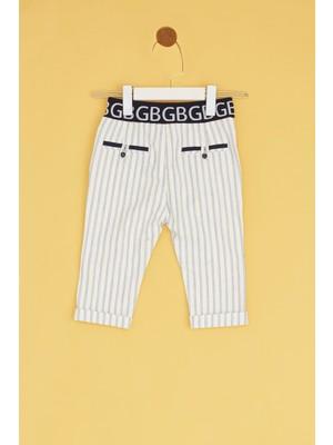 BG Baby Erkek Bebek Çizgili Pantolon
