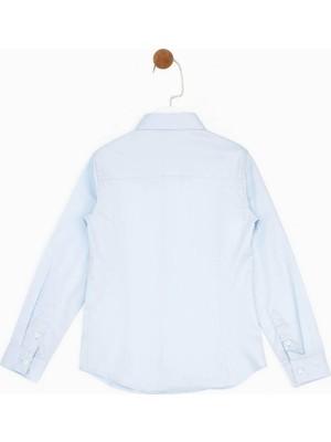 B&G Store Nebbati Erkek Çocuk Mavi Gömlek