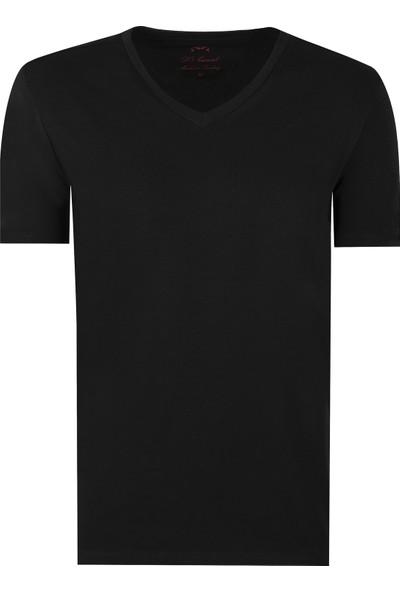 D'S Damat Slim Fit V Yaka Erkek T-Shirt
