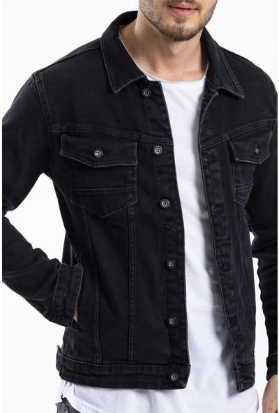 Denim Man Erkek Kot Ceket Siyah