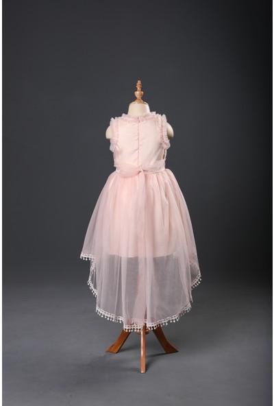 Seramis Kids Tül Detaylı Brodeli Kız Çocuk Elbise