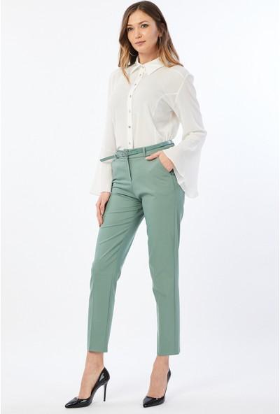 Bazza Klasik Açık Yeşil Kadın Pantolon