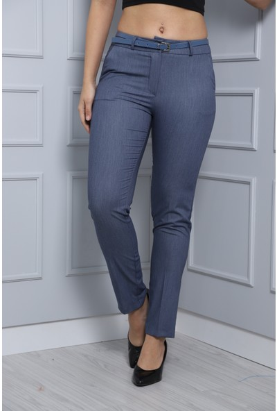 Bazza Klasik Mavi Kadın Pantolon