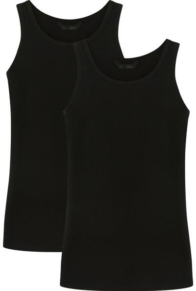 Penti Siyah Basic Slim 2'li Atlet M