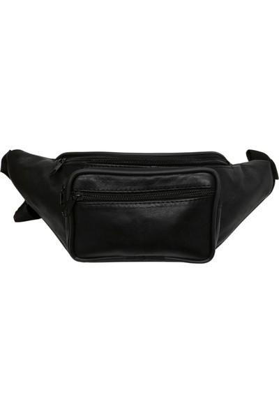 Cascades Leather Hakiki Deri Unisex Bel Çantası - Siyah