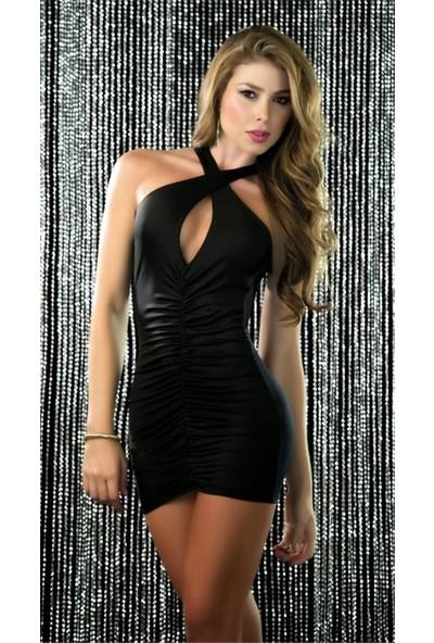 For Dreams 8035 Mini Elbise-Siyah