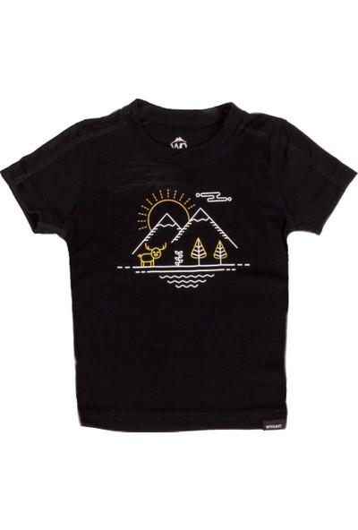 Woolnat Terletmeyen Merino Yün Tayga Kısa Kollu Çocuk Tshirt