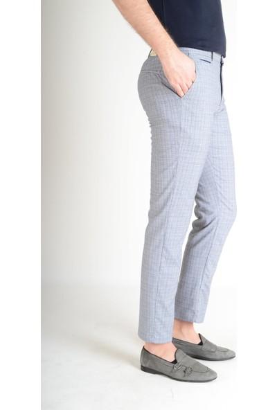 Luppo Club Kırçıllı Yazlık Slimfit Mavi Erkek Pantolon Aşiyan 30