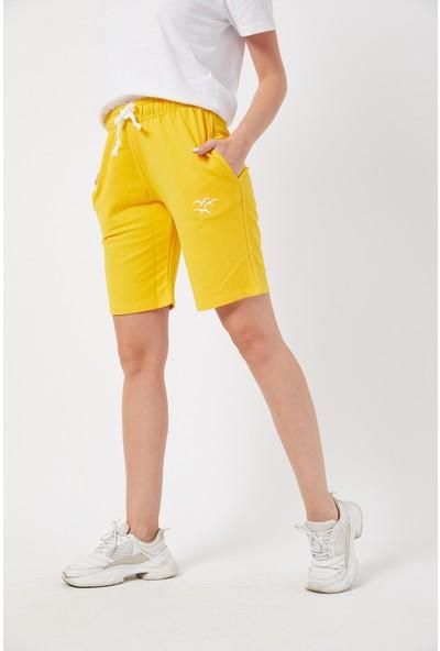 Twenty3 Kadın Basic Uzun Örme Şort-Bermuda