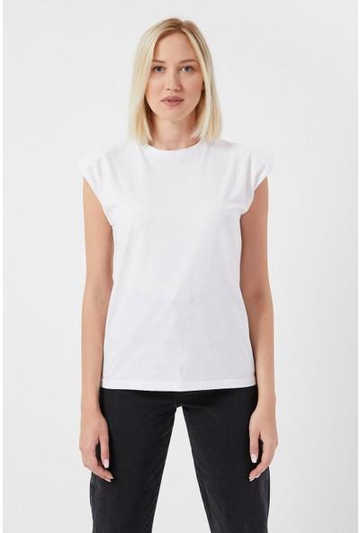 Kendal By Twenty3 Kadın Vatkalı Sıfır Kol T-Shirt