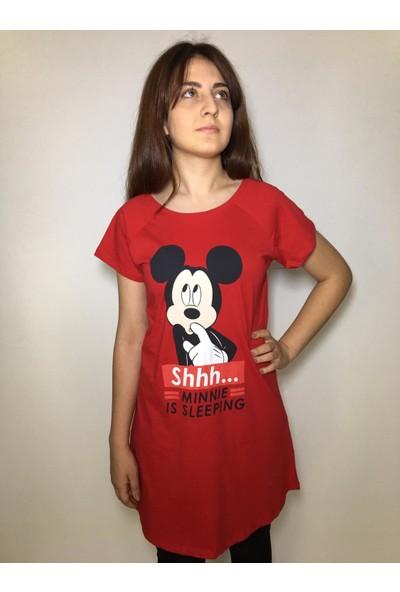 Dnz Mickey Mouse Baskılı Uzun Tişört