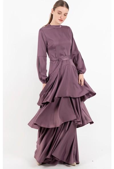 Puane Elbise Lila -PN12144