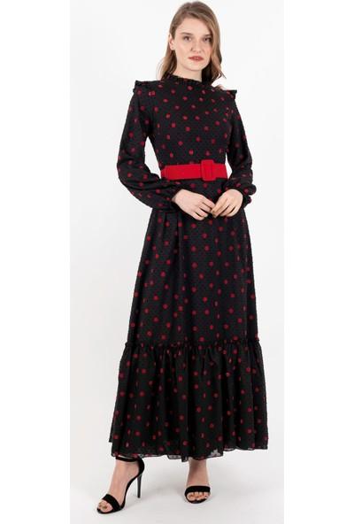 Loreen Elbise Siyah -LRN22206