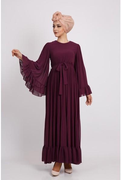 Puane Kadın Mürdüm Elbise