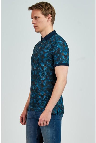 Giovane Gentile Erkek T-Shirt Lacivert