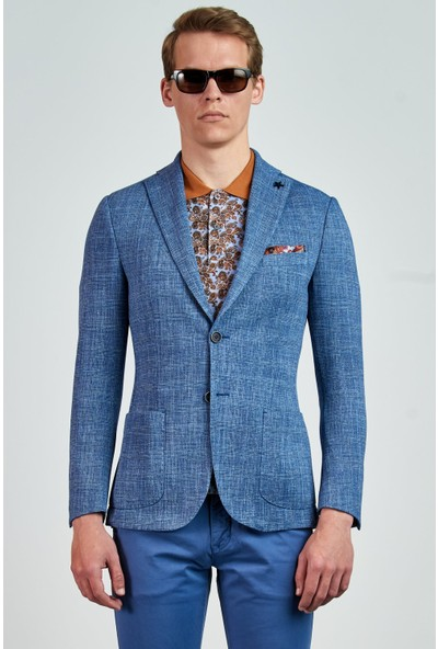 Giovane Gentile Designers Ceket Açık Mavi