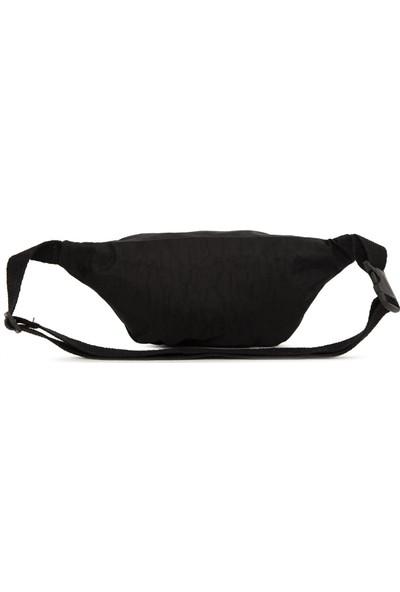 Bagmori Siyah Paraşüt Kumaş Armalı Bel Çantası