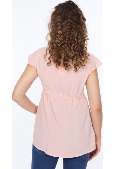 Trendy Düğme Detaylı Hamile Bluz