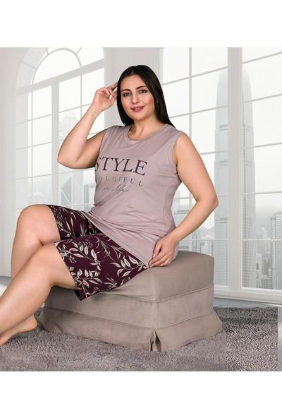 Lady Lingerie Battal Kolsuz Şortlu Takım 10259