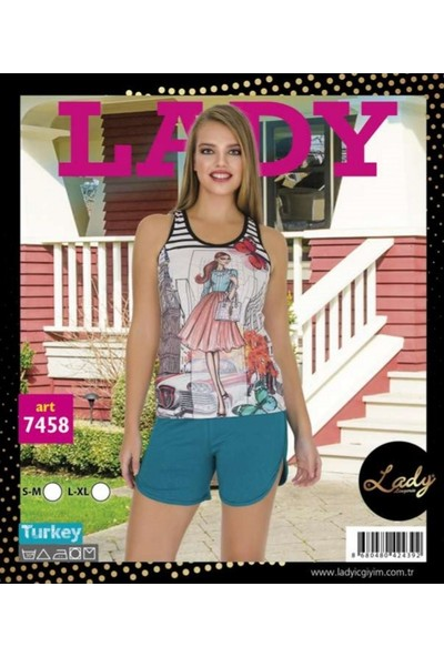 Lady Lingerie Kız Şortlu Askılı Takm 7458