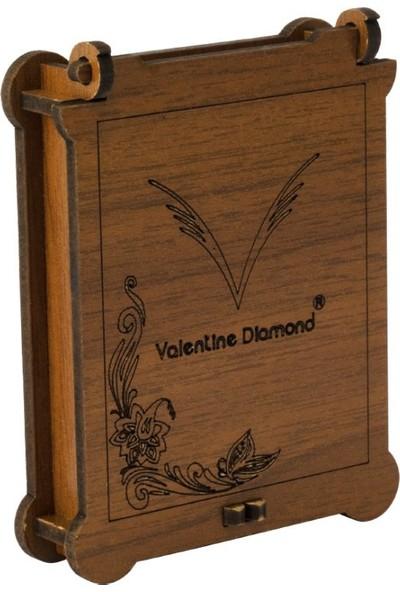 Valentine Diamond Yeni Doğan Bebek Iğnesi Ayıcıklı Pembe Kalp