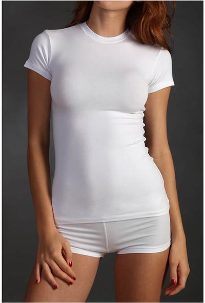 Sementa Sıfır Yaka T-Shirt - Beyaz