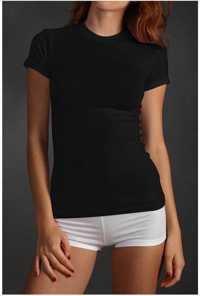 Sementa Sıfır Yaka T-Shirt - Siyah