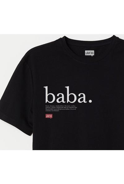 Lûgat365 Baba Siyah Tişört