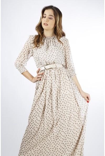 Esi̇to Puanlı Uzun Elbise