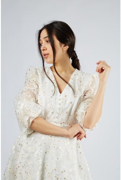 Favori̇ Çiçek Desenli Elbise