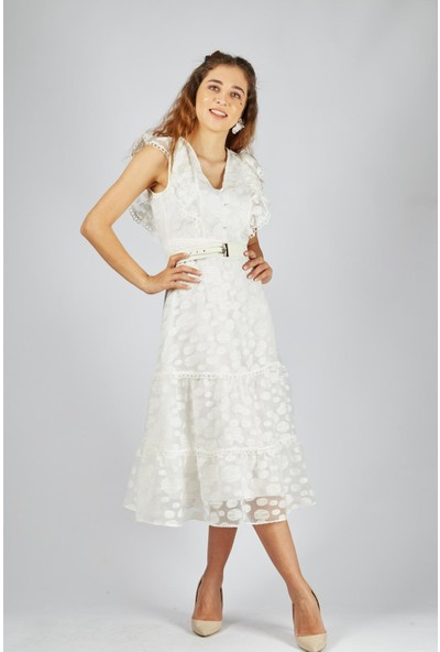 Favori̇ Fırfırlı Tül Elbise