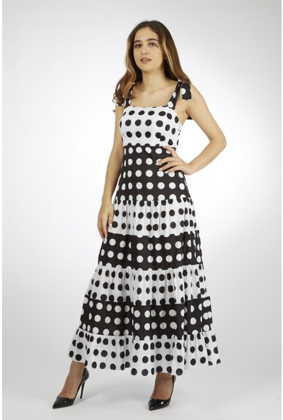 Favori̇ Puanlı Askılı Elbise