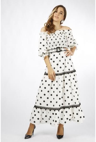 Favori̇ Puanlı Straplez Elbise