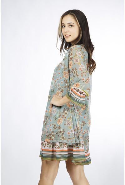 Favori̇ Şifon Çiçekli Elbise