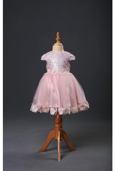 Seramis Kids Pul Detaylı Kız Çocuk Elbise