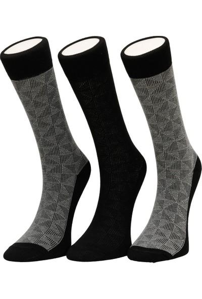 Garamond Border 3'lü Skt-M Siyah Erkek Soket Çorap