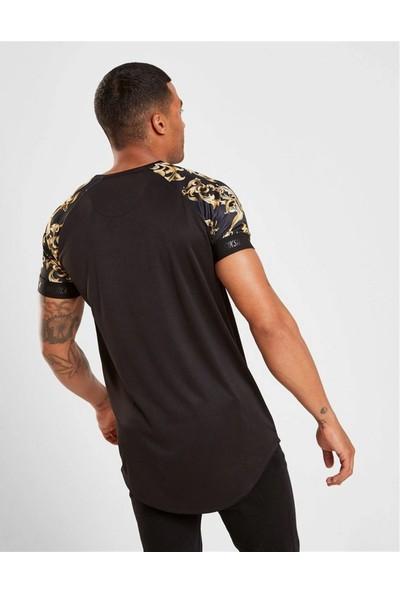 Soydance Kolları Gold Kolları Lastikli T-Shirt Siyah