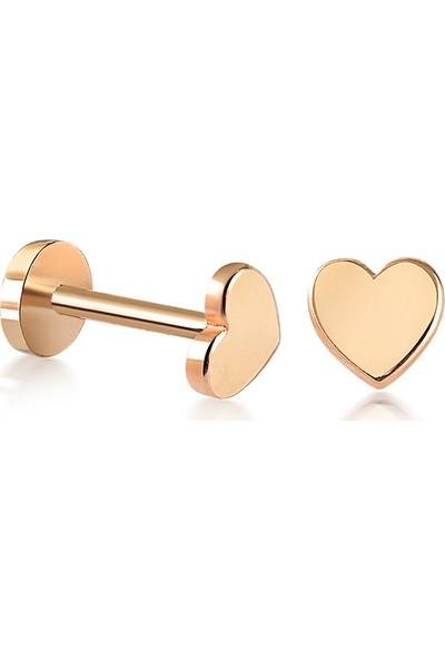 14 Ayar Altın Kalp Tragus Piercing