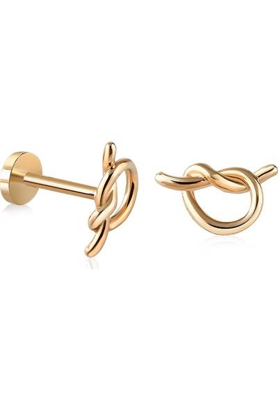 14 Ayar Altın Düğüm Tragus Piercing