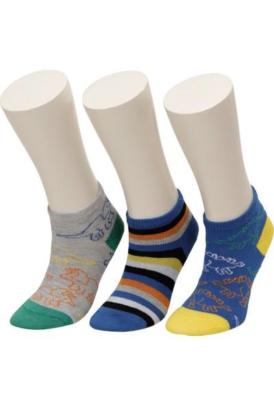 I Cool Dınazor 3 Lu Ptk-B Mavı Multı Erkek Çocuk Çorap