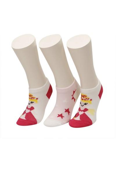 I Cool Prıncess 3 Lu Ptk-G Pembe Multı Kız Çocuk Çorap