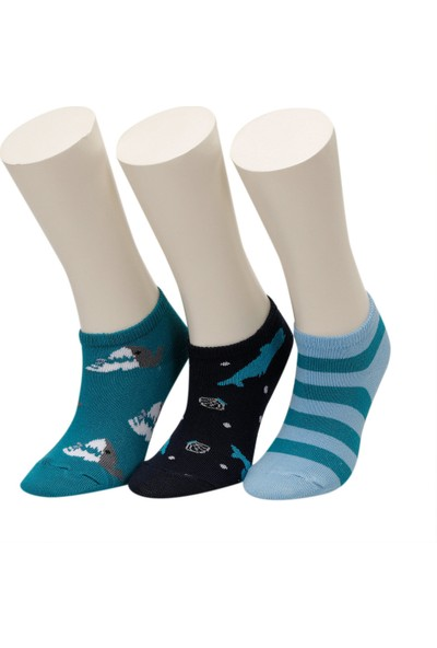 I Cool Shark 3 Lu Ptk-B Mavı Multı Erkek Çocuk Çorap