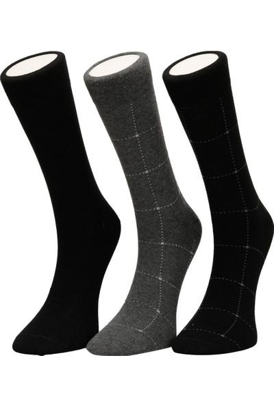 Garamond Ekose 3 Lu Skt-M Siyah Erkek Soket Çorap