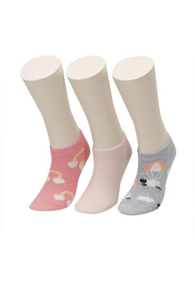 I Cool Kuzu9 3'lü Ptk-G Gri Multı Kız Çocuk Çorap