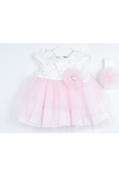 Serkon Kız Bebek Çocuk 3 Kat Tüllü Elbise 2'li Takım 6 - 24 ay Serkon 4319
