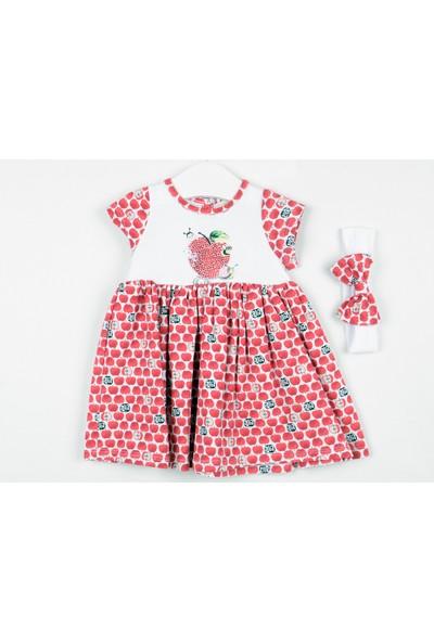 Serkon Kız Bebek Çocuk Elmalı Elbise 2'li Takım 6 - 24 ay Serkon 4332